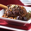 Braised Lamb Shanks with Port Wine Sauce