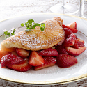 Soufflé Omelet with Balsamic Strawberries