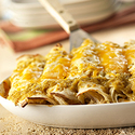 Cheesy Chicken Enchiladas Verde