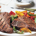 Spicy Five-Pepper T-Bone Steaks